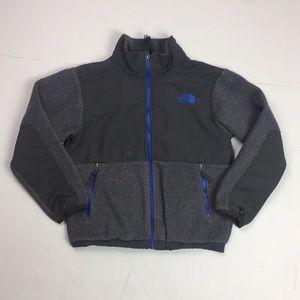 The North Face Gray Fleece Jacket Zipper Front